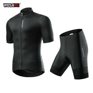 Short Sleeved Cycling Jersey & Shorts Outfit MTB Bike Teamwear Bicycle Clothing