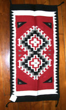 """Throw Rug Tapestry Southwestern Thick Hand Woven Wool 20x40""""   #214"""