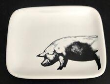 "Room & Retreat 4"" X 3.25"" White Ceramic Pig Trinket / Ring Dish / NWT"