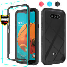 For LG Phoenix 5/Aristo 5/Fortune 3 Case Rugged Armor Clear Cover+Tempered Glass