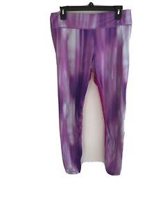 under armour womens full length all season gear leggings size:L purple