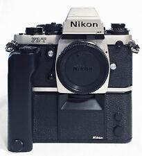 NIKON F3/T TITANIUM 35MM FILM SLR PRO CAMERA w/ NIKON MD-4 MOTOR DRIVE MINT-