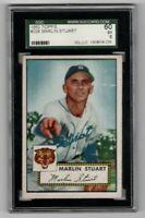 1952 Topps Baseball #208 Marlin Stuart - SGC 5 EX