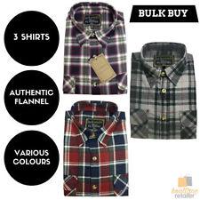 Plaids & Checks Long Sleeve Button-Front 100% Cotton Casual Shirts for Men