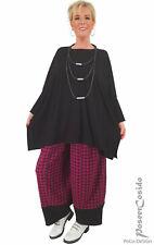 PoCo LAGENLOOK Ballon-Hose schwarz magenta  XL XXL XXXL 44 46 48 50 52 54 56 58