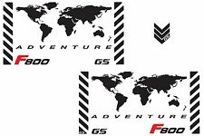 Motorcycle Reflective Decals World Adventure BMW F800 GS for Touratech Panniers