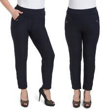 Donna Taglie Forti Pantaloni Gamba Dritta Elasticizzato Vita Alta M-5XL KZY-W015