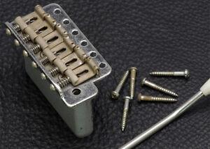 Gotoh Stratocaster Strat Tremolo Guitar Bridge • Steel Block • Aged Chrome/Relic