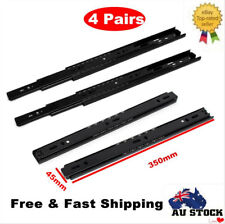 "4 Pairs 14"" 350mm Ball Bearing Drawer Runner Slides Rails Track Hardware Sliders"