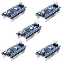 5PCS Nano V3.0 ATmega328P controleur compatible pour arduino nano CH340 pilot V5