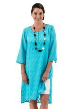 Spirituelle Ella Resort Cotton Dobby Shirt Dress – Aqua