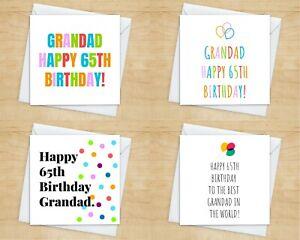 Grandad 65th Birthday Card - 10+ Styles -Grandpa Grandad Birthday Card For 65th