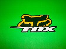 FOX RACING MOTOCROSS QUAD ATV BMX SKATEBOARD YELLOW & GREEN BLITZ DECAL STICKER