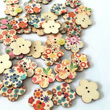 50PCS Lovey Girl Large Wooden Buttons, sewing buttons, sewing accessories ,Craft