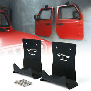Set of 2 Door Storage Hanger Wall Mount for Jeep Wrangler JK JL CJ TJ JT YJ LJ