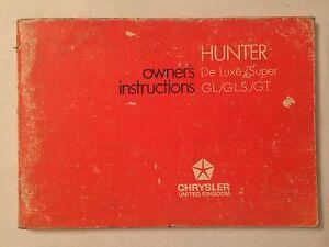 ORIGINAL CHRYSLER HILLMAN HUNTER DRIVERS HANDBOOK 1972