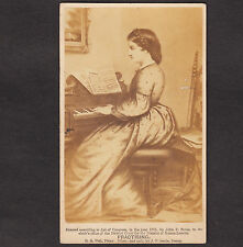 Antique 1865 © Chickering Piano Music Practising CDV John P Soule Victorian Card