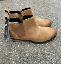 Sorel Emelie Chelsea Closed Toe Ankle Boots Bootie Size 8.5 Camel Brown
