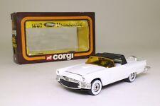 Corgi 810; 1957 Ford Thunderbird Soft Top, White, Black Hood; Very Good Boxed