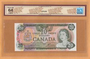 Canada $20 Dollars BCS-64 UNC 1979 P-93a / BC-54a Lawson - Bouey QEII Banknote