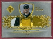 2012 PP TM NASCAR Paul Menard SP RACEUSED SHT METAL/FIRESUIT/GLOVE CARD #d 12/50