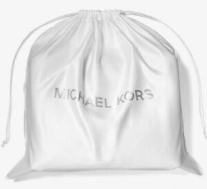 "Michael Kors X-Large Drawstring Dust Bag Ivory / Silver 21""x21"" 35S0PU0N4C FS"