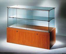 Banco vendita cassa mobile legno con vetrina vetrinetta teca vetro con cassetti