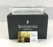 Waterford Crystal Rectangular Tray Boxed 18.5cm In Width