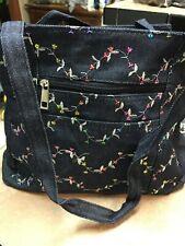 Sequin Embroidered Denim  handbag cosmetic bag & coin purse set new