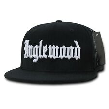 Black Inglewood Rap Gangster Embroidered Hip Hop Flat Bill Snapback Cap Hat