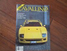VINTAGE CAVALLINO FERRARI MAGAZINE NUMBER 53 October 1989 F40 Cover