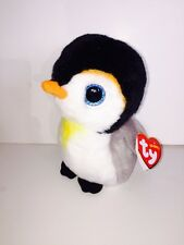 TY PONGO PENGUIN BEANIE BABIES NEW,MINT TAG-IN HAND-ADORABLE-LOVES SNOWBOARDING