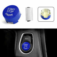 Blue Start Stop Engine Switch Button Cover For BMW F20 F30 F10 F01 F25 F26