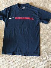 """Nike T-Shirt Navy Blue """"Baseball� Red White & Blue"""