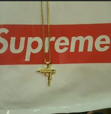 18k Gold Supreme Uzi Chain new