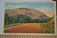 C 1948 Stone Mountain Largest Solid Stone in the World  Atlanta Georgia Postcard