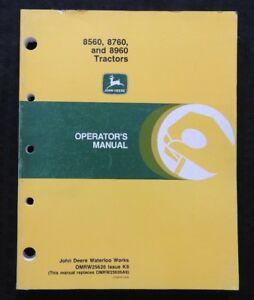 GENUINE JOHN DEERE 8560 8760 8960 TRACTOR OPERATORS MANUAL 200 pages VERY NICE
