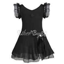Girls Tutu Ballet Leotard Dancewear Sequins Dance Dress Ballerina Fairy Costumes