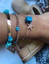 Nazar Armband,Armkette,evil Augen,türkische,Naturstein Turkisperlen,seestern,3X