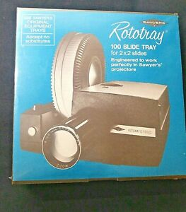 NEW Sawyer's Rototray Slide Tray Album Index Card Label Holds 100 2 x 2 Slides
