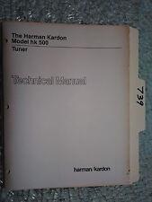 Harman Kardon hk500 hk 500 service manual original repair book stereo tuner