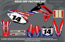 HONDA CRF250 2014-2017 / CRF450 2013-2016  MX GRAPHICS FACTORY FULL KIT BLUE