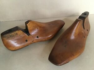 """Pair of 7 1/2 WOODEN SHOE LAST""""S to keep shoes in shap"""