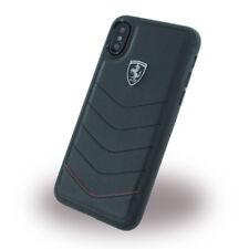 Ferrari Heritage Leder iPhone X Schutzhülle Back Case Cover schwarz
