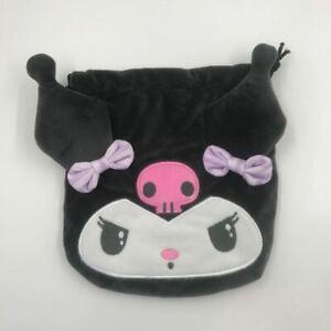 kuromi black evil plush handbag drawstring makeup bag pencil bags collect cool