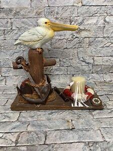"Yankee Candle Pelican 9"" Wax Tart Burner Warmer Hanging Basket Nautical Wharf"