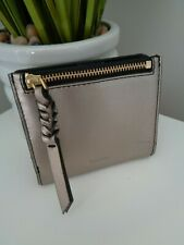 ** BNWT Fossil Caroline Pewter Small Leather Clutch Purse Wallet with RFID