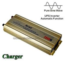 Meind 2000W Pure Sine Wave Built-in Charger UPS 12 DC to 220 AC Power Inverter