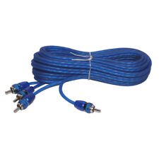 Stinger SSRCB17 17 feet 2 Channel Car Audio RCA Interconnect Wire Cables Blue
