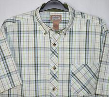 C.E. Schmidt Workwear Shirt Plaid Button Front/Collar Cotton/Poly S/S Men's XXL